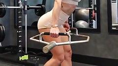 Hot Brunette At Gym 2