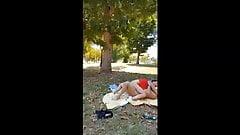 couple caught fucking in a public park - voyeur sex