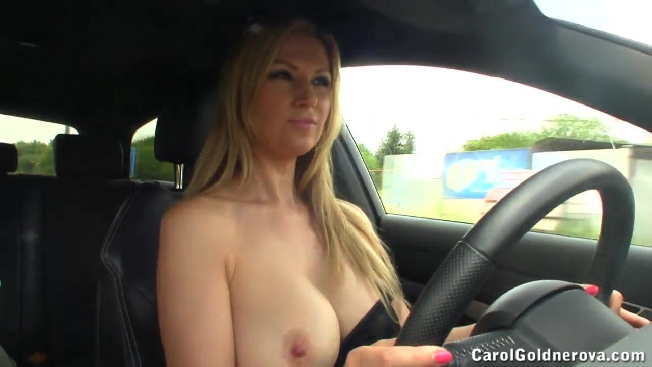 Warm Naked Tits In Car Pic