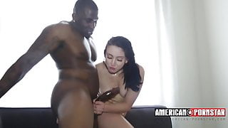 Black king fucking a white chick