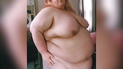 SSBBW Shows Off Strange Shaped Fat Body