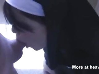 Busty nun suck Sinful nun sucks dick with cum on face