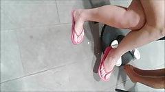 Lovely brunette milf legs and feet