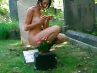 Parade me naked Me naked in a cemetry 3