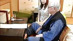 Japanese old man and housekeeping service