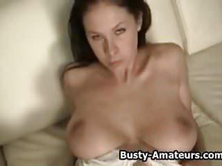 Busty gianna facial - Busty amateur gianna masturbates her pussy