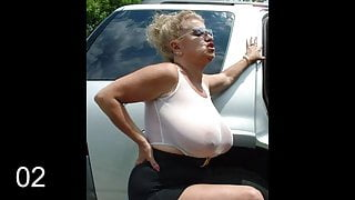 Huge Granny Tits Jerk Off Challenge To The Beat