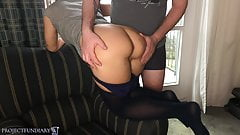 deep throat Relaxed fuck at hotel window in pantyhose - projectsexdiary oral
