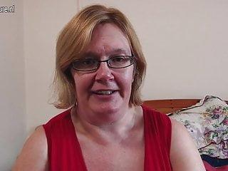 Big tits and video British mature lady shows her big tits and masturbates