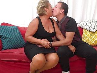 Motrer gives son mature sex Grandma gives sex reward to lucky son