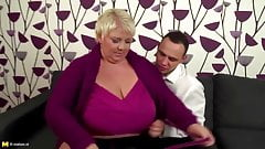 BBW – Young Guy Fucks Three BBW Mature MILFs