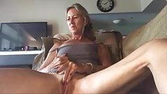 Cute granny small tits masturbation webcam