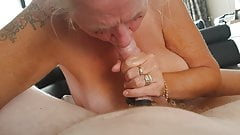 Ex-mother-in-law sucking my dick.