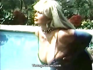 Busty mature sample movie Candy samples masturbating chesty granny 1970s vintage