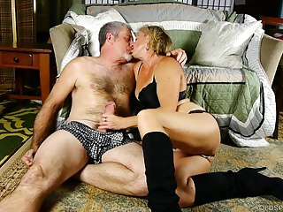 Sexy hot milf and granny videos Super sexy old spunker in kinky boots is such a hot fuck