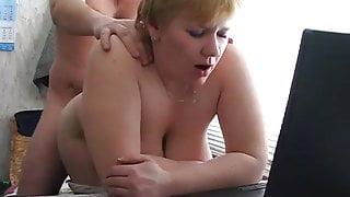 Dad fuck Russian mature stepmom with big boobs