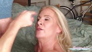 JoannaMeadows sucks Tinder date until he unloads on her face