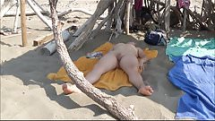 Wife nude at public beach!