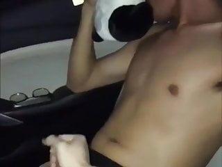 Huge boy cum Young arab boy in the car huge cum explosion