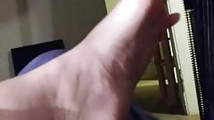 Friend foot and sock tease