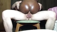 Dirty Black Girl Showed Her Tasty Ass Anal