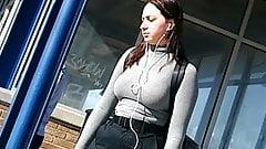 American girl nice big hanging tits. Big boobs