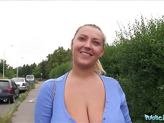 Public fucks Public agent oversized boobs being fucked outside