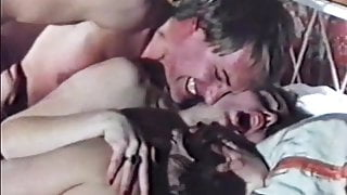 1970 - threesome with hairy pussy