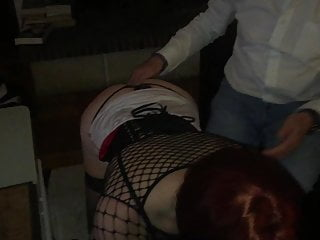 Fetish professional submissive - Submissive t-girl with another couple