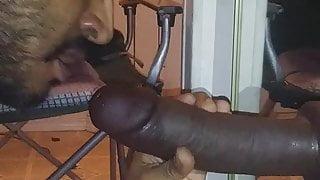 Latino Sucking Huge Cock