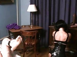 Latex anglecom German mistress fuck her slave
