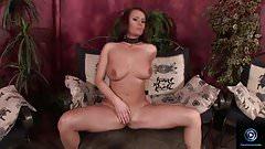 Flirtatious milf Kathy dildo fucking her sweet vagina