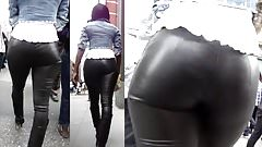 Candid Leather (Real leather pants on sexy ebony)