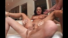 Milf Sandra Romain gets assfucked by group