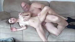 stunning girl with a hairy cunt gets fucked by an 80yo man