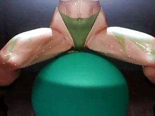 Practicing nude medicine exams - Cammy practice ball exercise nude