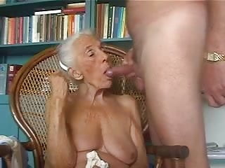 Grandma who loves to suck dicks - Old grandma loves to suck young cock