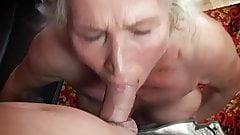Granny Norma masturbating facefuck cumshot