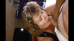 Hot granny making cum dick in a strange way