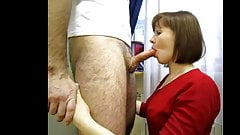 lovely wife giving deep blow