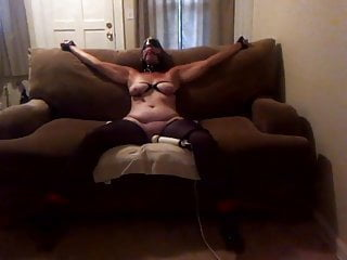 Asian sexy tied Sexy wife tied to the couch