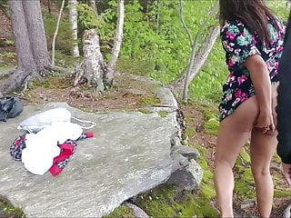 Blow and pee slutload Outdoor fuck and pee