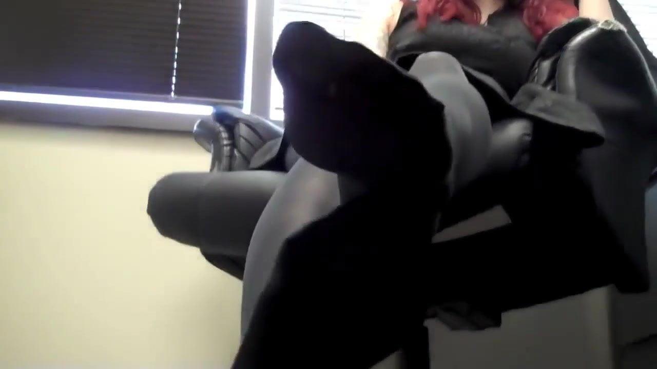Milf Footjob Under Table