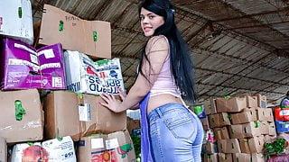 LETSDOEIT - Round Ass Latina Babe Picked Up And Banged Hard