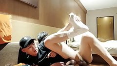 chinese friends bare fucking for cam in hotel room (1'23'')