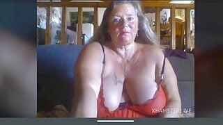 Granny vamp – pussy masturbation show big boobs