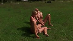Big Tits Stepmom & Tight Teen Stepdaughter with Glass Dildos