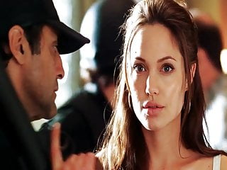 Pictures of angelina jolies breasts Angelina jolie - mr and mrs smith