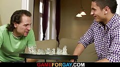 He is involved into gay game of strip