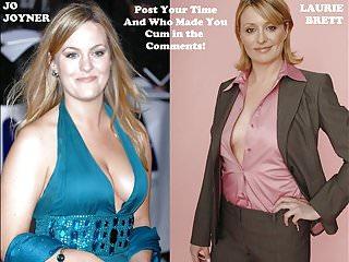Girl mature vs Celebrity wank challenge: jo joyner vs laurie brett